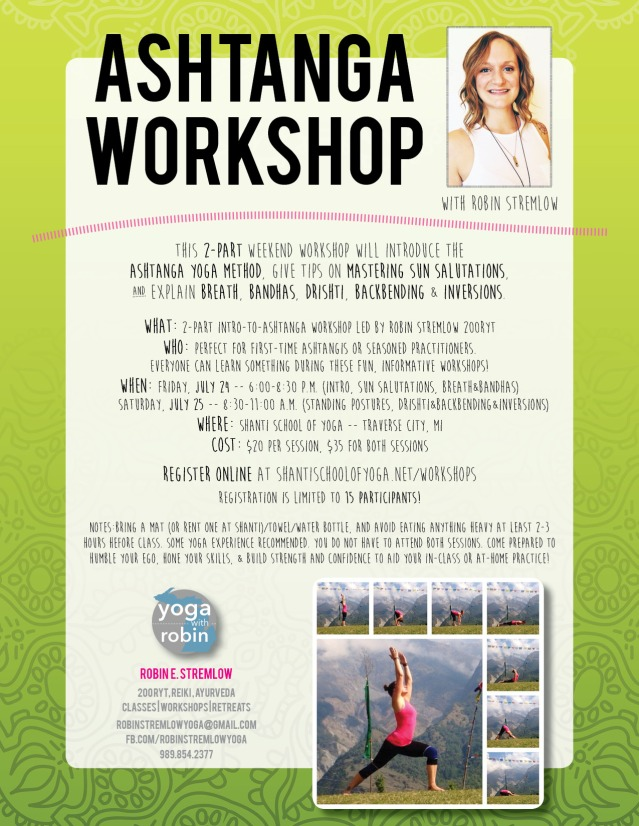 Click on the Flyer Image to register for this great workshop I'm leading in Traverse City in Late July!!! <3